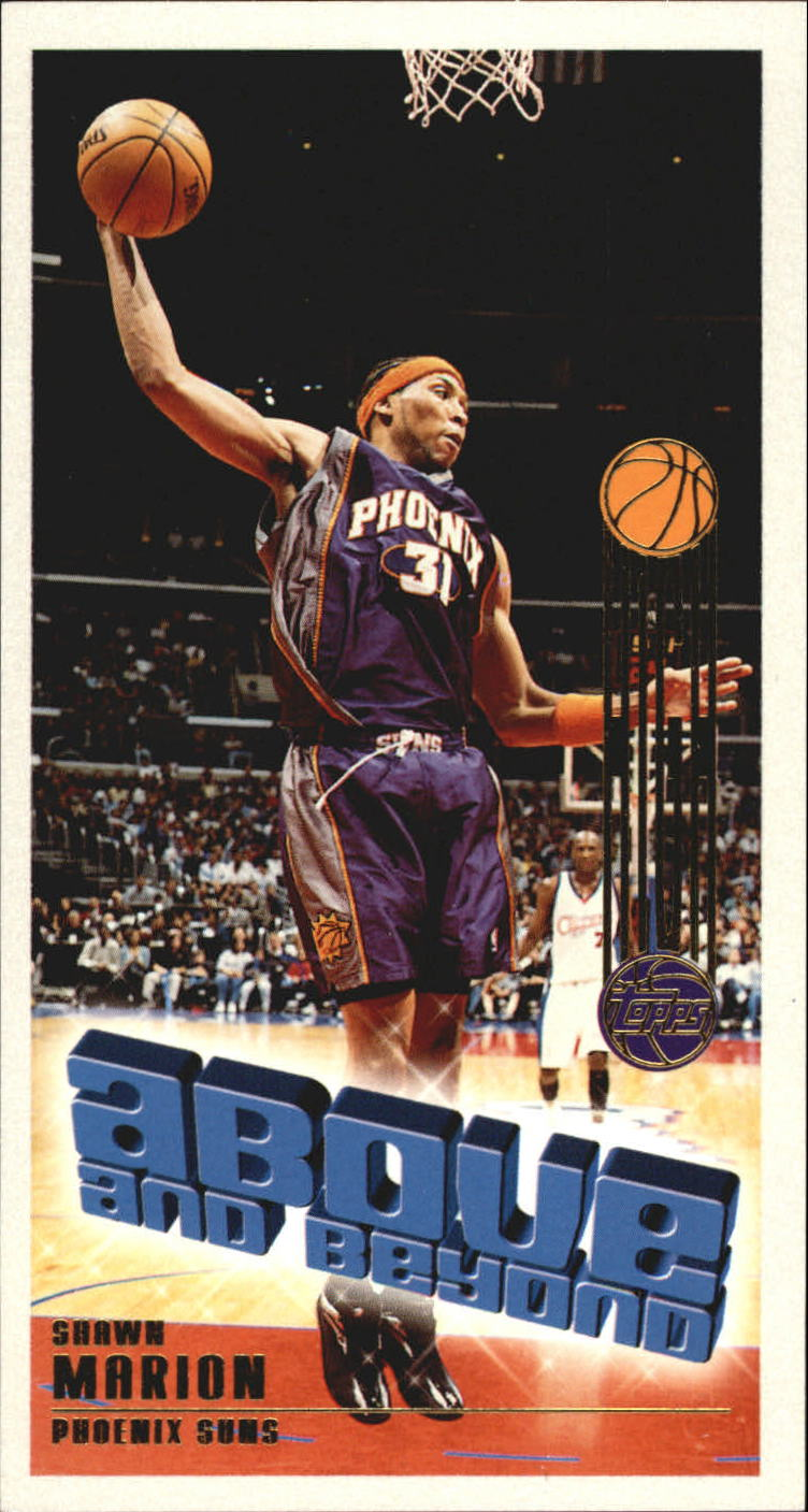2001-02 Topps High Topps Above and Beyond #AB2 Shawn Marion