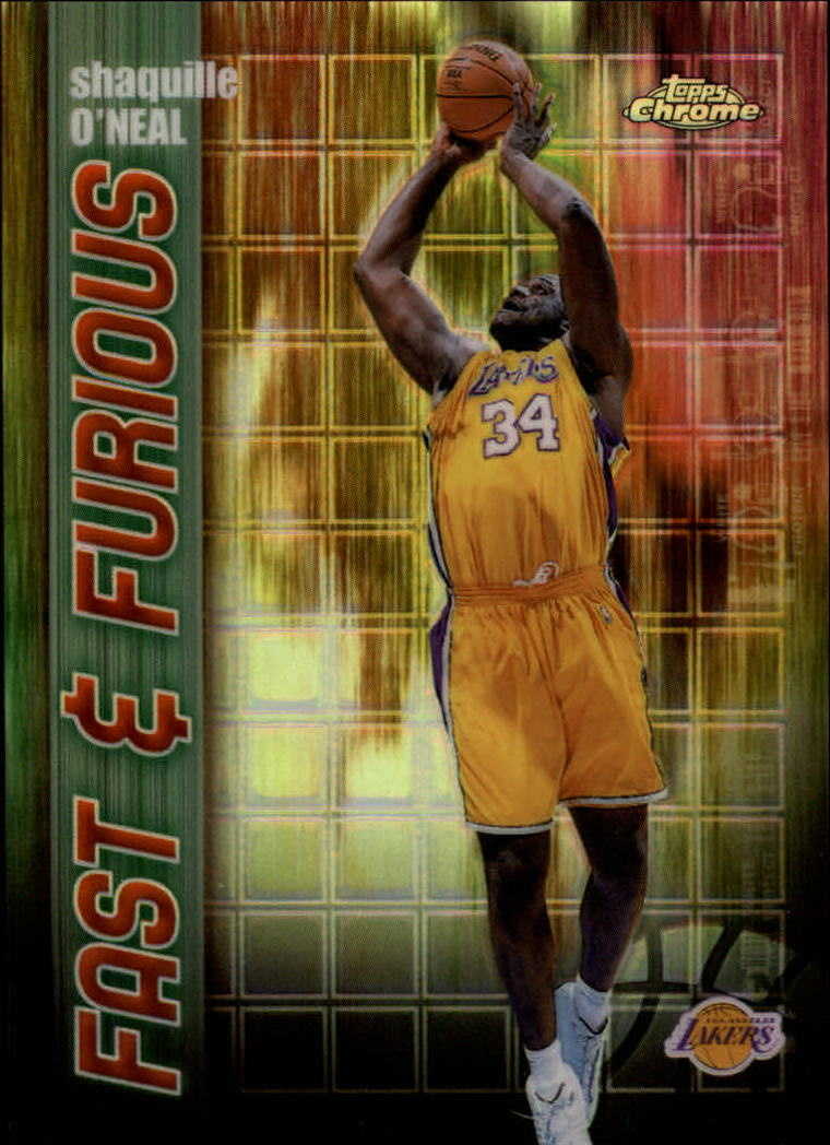 2001-02 Topps Chrome Fast and Furious Refractors #FF8 Shaquille O'Neal