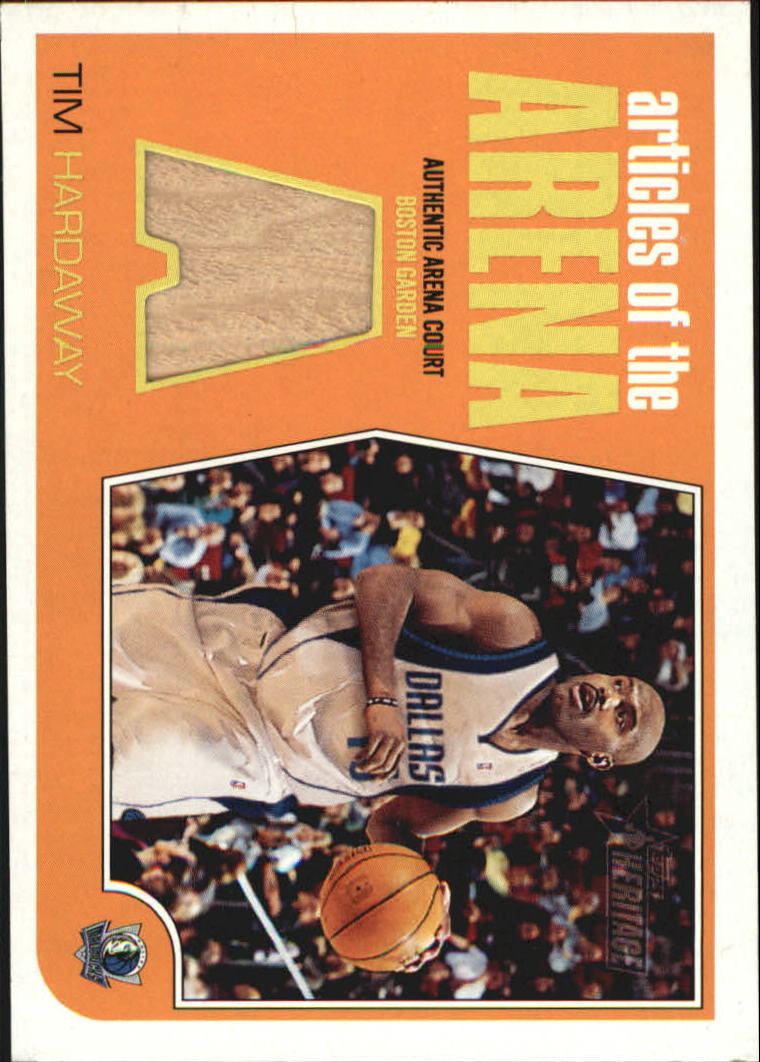 2001-02 Topps Heritage Articles of the Arena Relics #11 Tim Hardaway