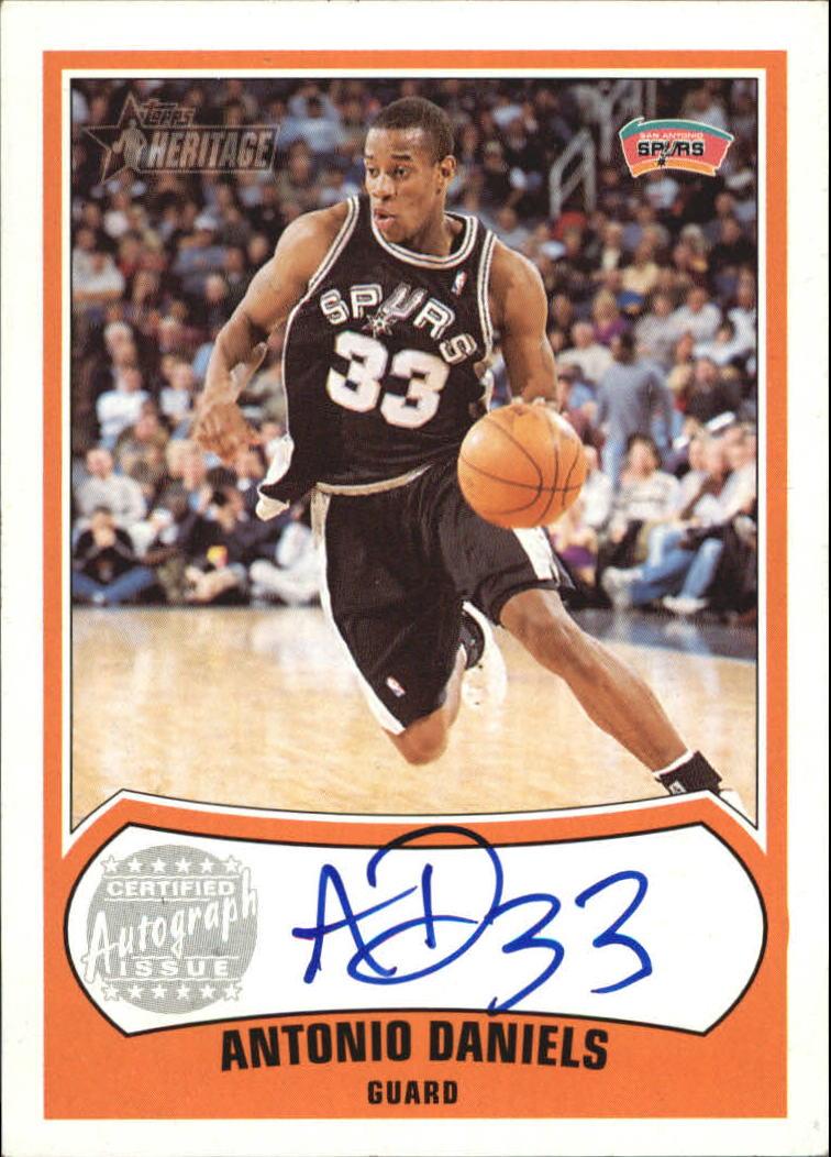 2001-02 Topps Heritage Autographs #1 Antonio Daniels
