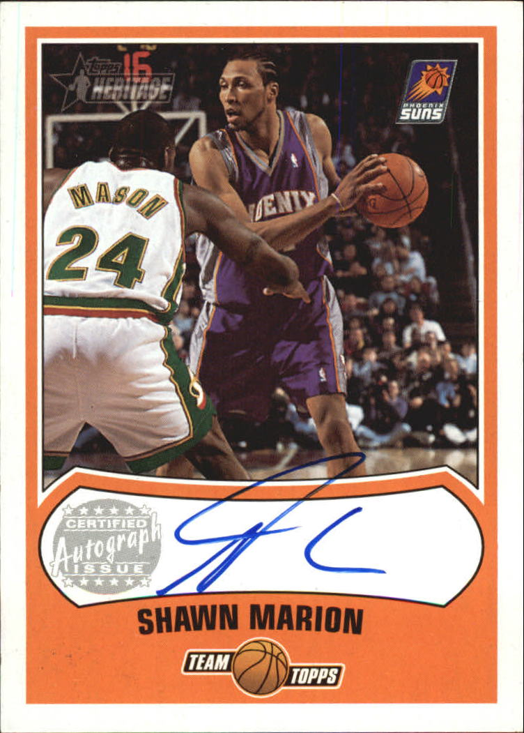 2001-02 Topps Heritage Autographs #12 Shawn Marion