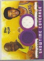 2001-02 Topps #TRSC Shaquille O'Neal JSY/Kareem Abdul-Jabbar JSY