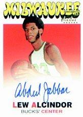 2001-02 Topps Kareem Abdul-Jabbar Reprints Autographs #1 Lew Alcindor