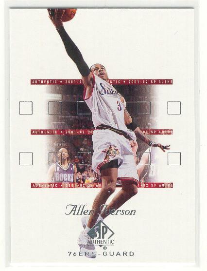 2001-02 SP Authentic #64 Allen Iverson