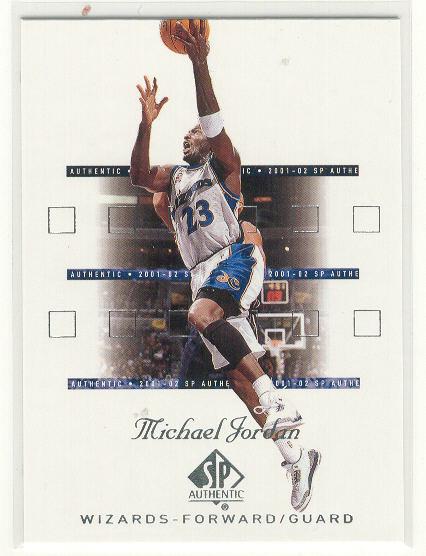 2001-02 SP Authentic #90 Michael Jordan