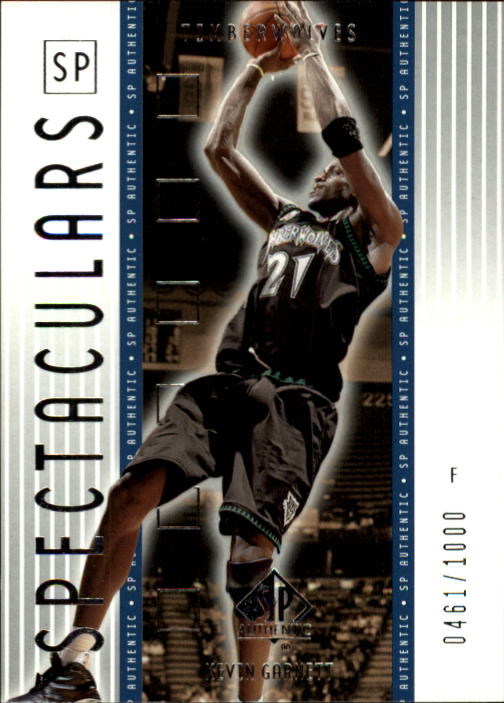 2001-02 SP Authentic #164 Kevin Garnett SPEC