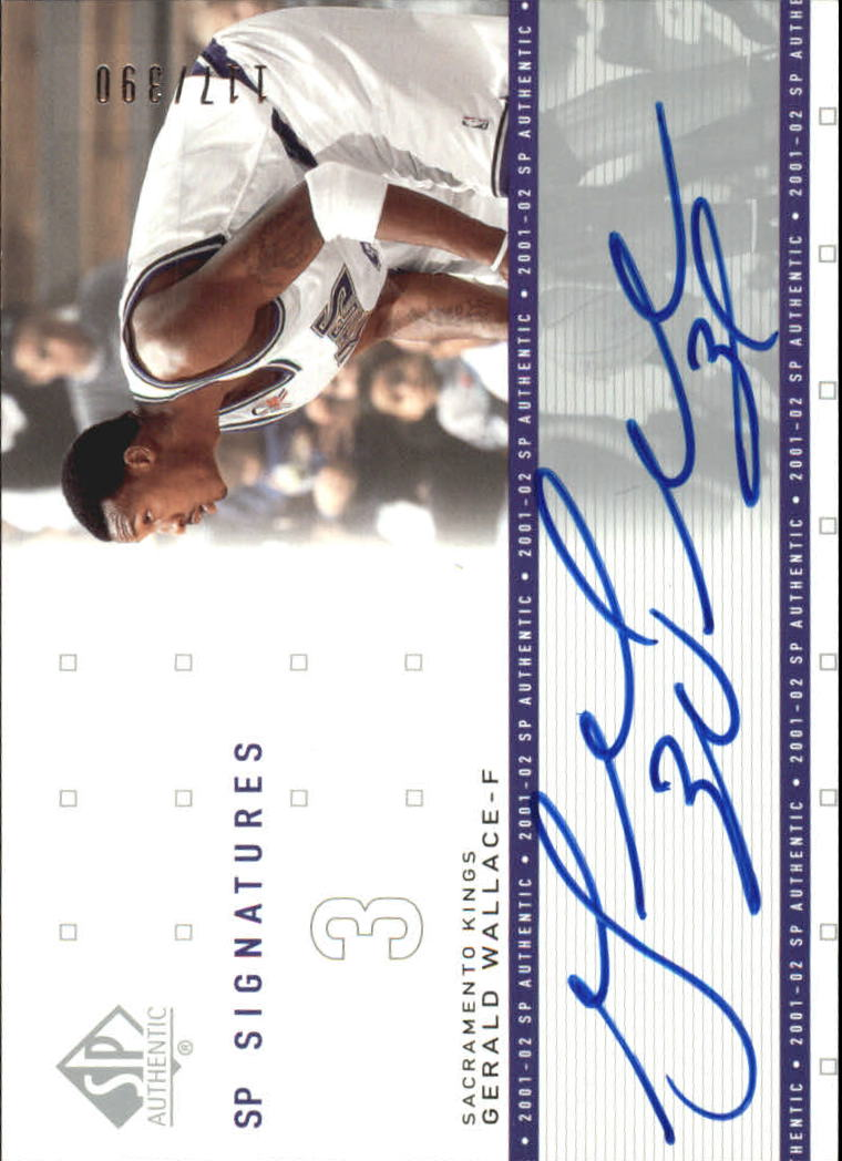 Sports Mem, Cards & Fan Shop United 2002-03 Sp Signatures Gw Gerald Wallace Sacramento Kings Autograph