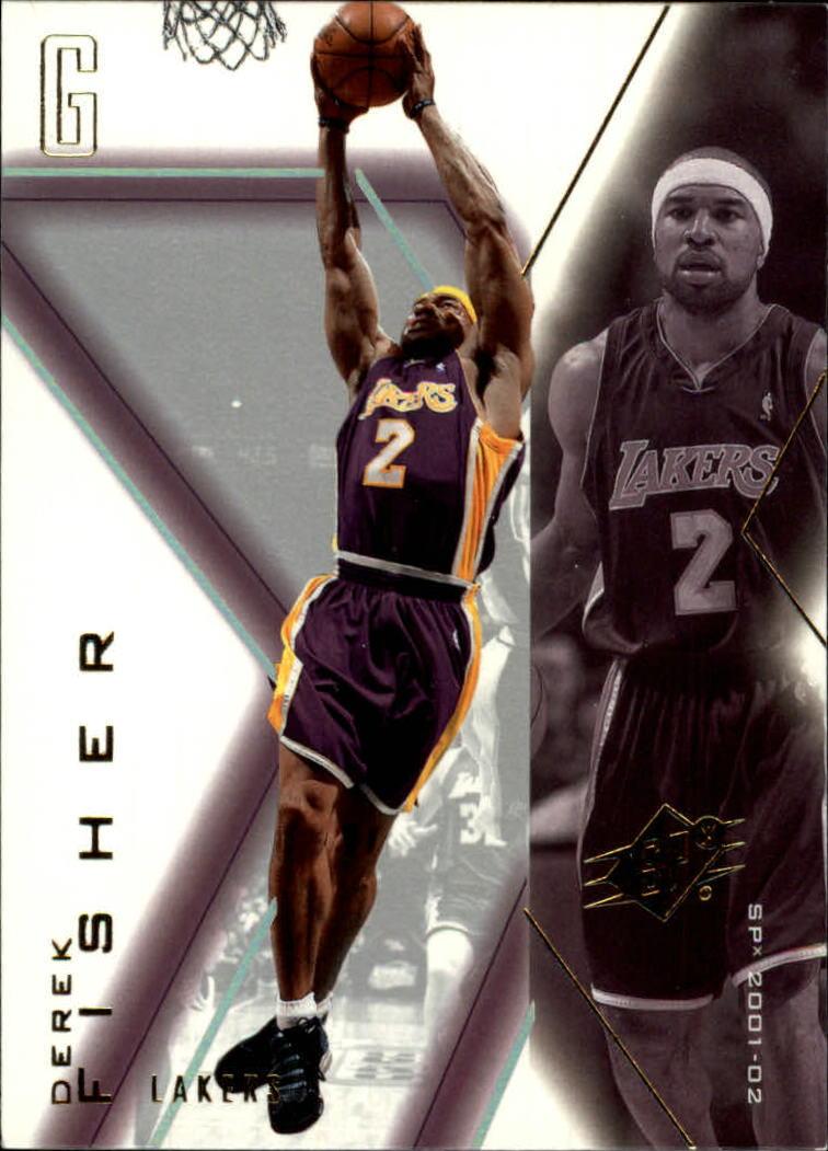 2001-02 SPx #41 Derek Fisher