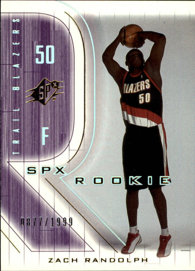 2001-02 SPx #124 Zach Randolph RC
