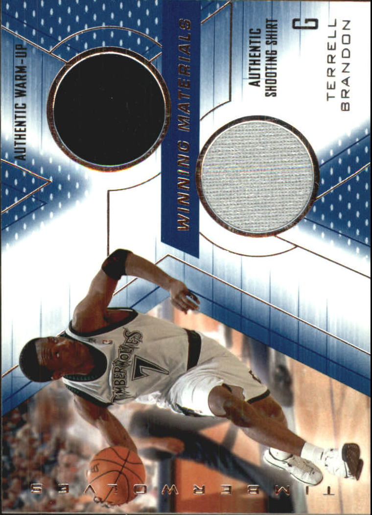 2001-02 SPx Winning Materials #TB Terrell Brandon WU/Shirt