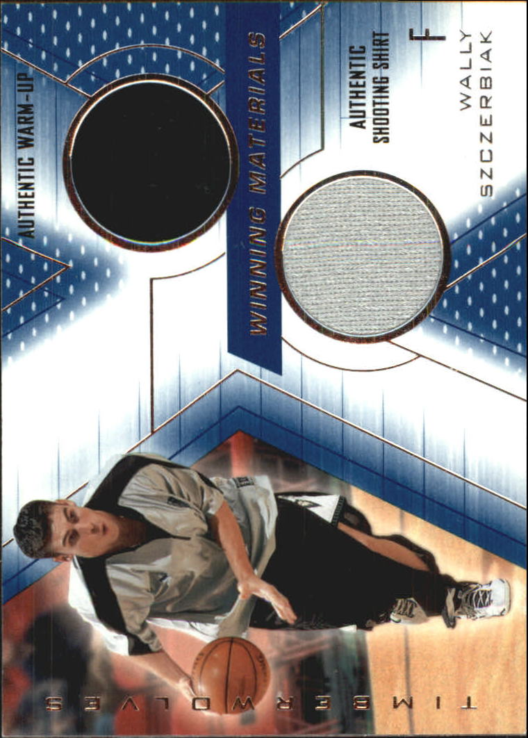 2001-02 SPx Winning Materials #WS Wally Szczerbiak WU/Shirt