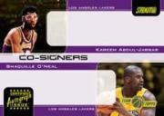 2001-02 Stadium Club Co-Signers #CS2 Shaquille O'Neal/Kareem Abdul-Jabbar