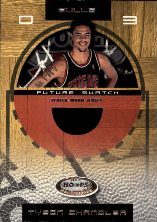 2001-02 Hoops Hot Prospects #82 Tyson Chandler JSY RC
