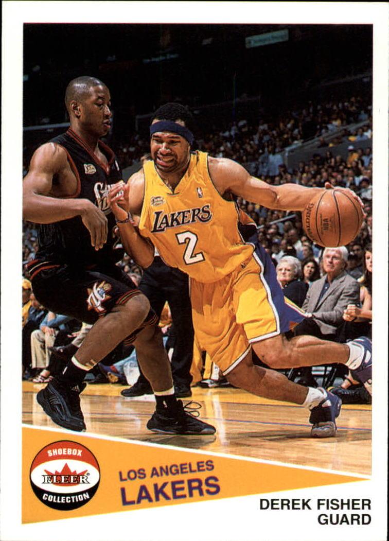 2001-02 Fleer Shoebox #64 Derek Fisher