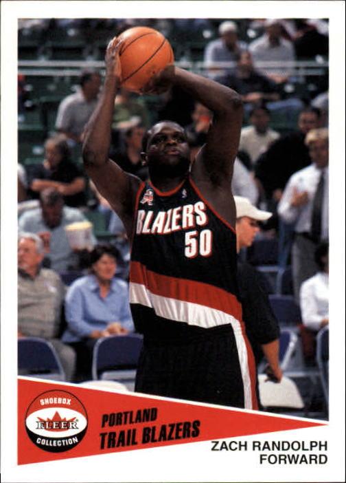 2001-02 Fleer Shoebox #167 Zach Randolph RC