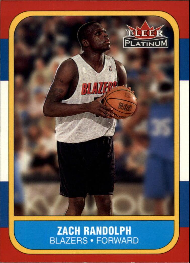 2001-02 Fleer Platinum #241 Zach Randolph RC
