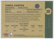 2001-02 Fleer Platinum Anniversary Edition #20 Vince Carter back image