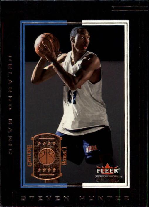 2001-02 Fleer Genuine #141 Steven Hunter RC
