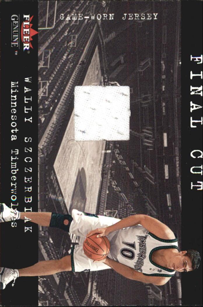 2001-02 Fleer Genuine Final Cut #30 Wally Szczerbiak