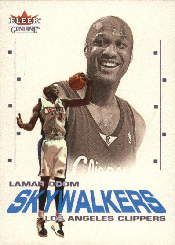 2001-02 Fleer Genuine Skywalkers #SW2 Lamar Odom