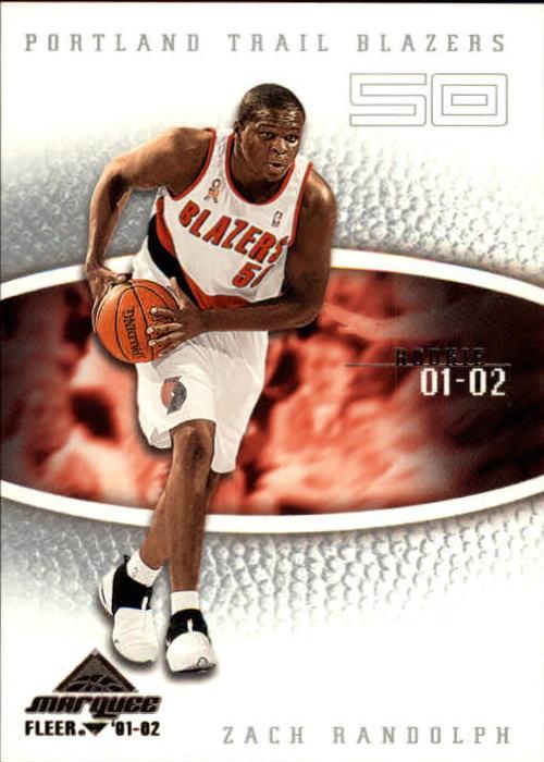 2001-02 Fleer Marquee #118 Zach Randolph RC/Ruben Boumthe RC