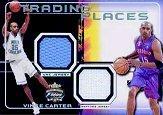2001-02 Fleer Focus Trading Places Jerseys #1 Vince Carter
