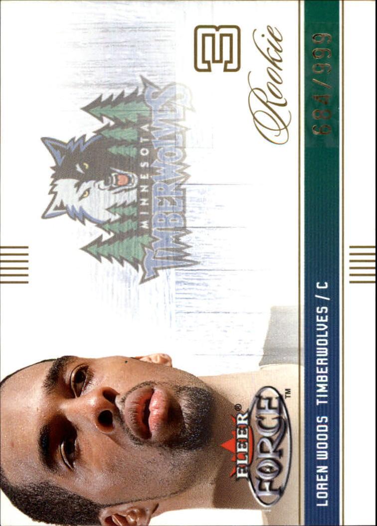 2001-02 Fleer Force #129 Loren Woods RC
