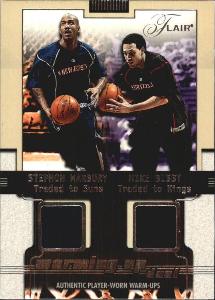 2001-02 Flair Warming Up Dual #7 Stephon Marbury/Mike Bibby