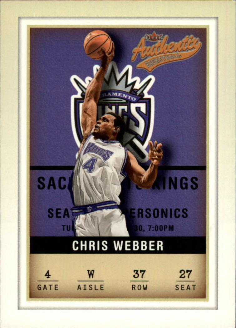 2001-02 Fleer Authentix #37 Chris Webber