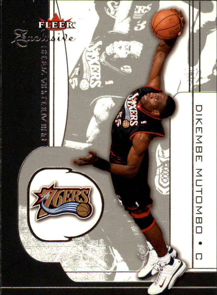 2001-02 Fleer Exclusive #3 Dikembe Mutombo