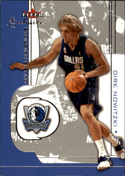 2001-02 Fleer Exclusive #27 Dirk Nowitzki