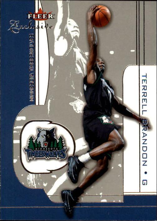 2001-02 Fleer Exclusive #44 Terrell Brandon