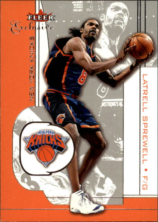 2001-02 Fleer Exclusive #46 Latrell Sprewell