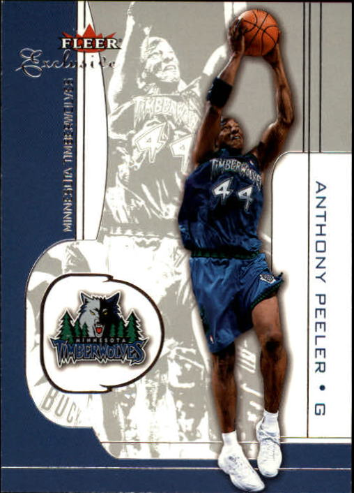 2001-02 Fleer Exclusive #89 Anthony Peeler