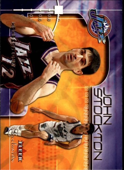 2001-02 Fleer Exclusive #118 John Stockton MO