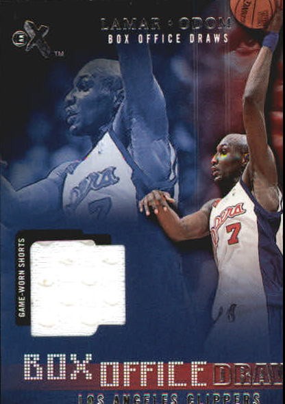 2001-02 E-X Box Office Draws Memorabilia #13 Lamar Odom Shorts