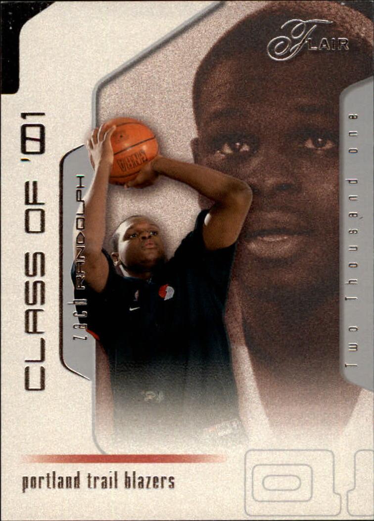 2001-02 Flair #101 Zach Randolph RC
