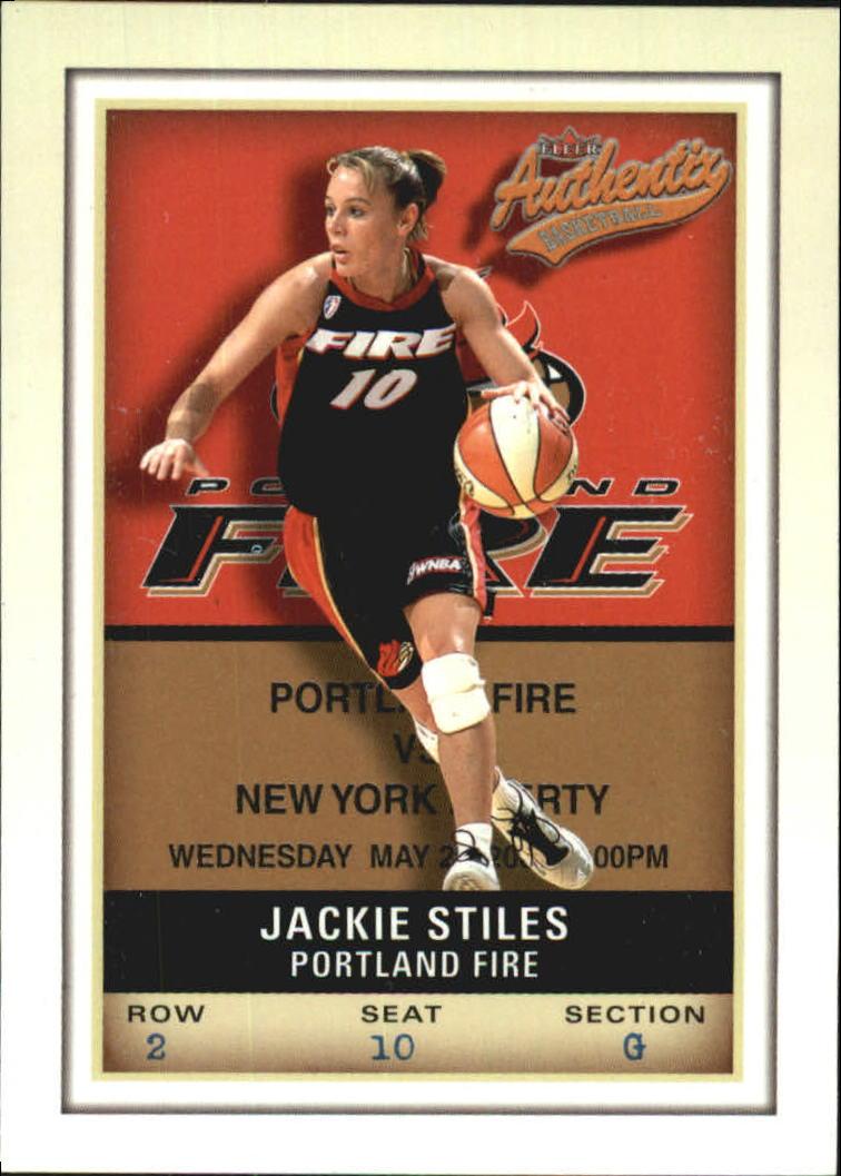 2002 Fleer Authentix WNBA #1 Jackie Stiles