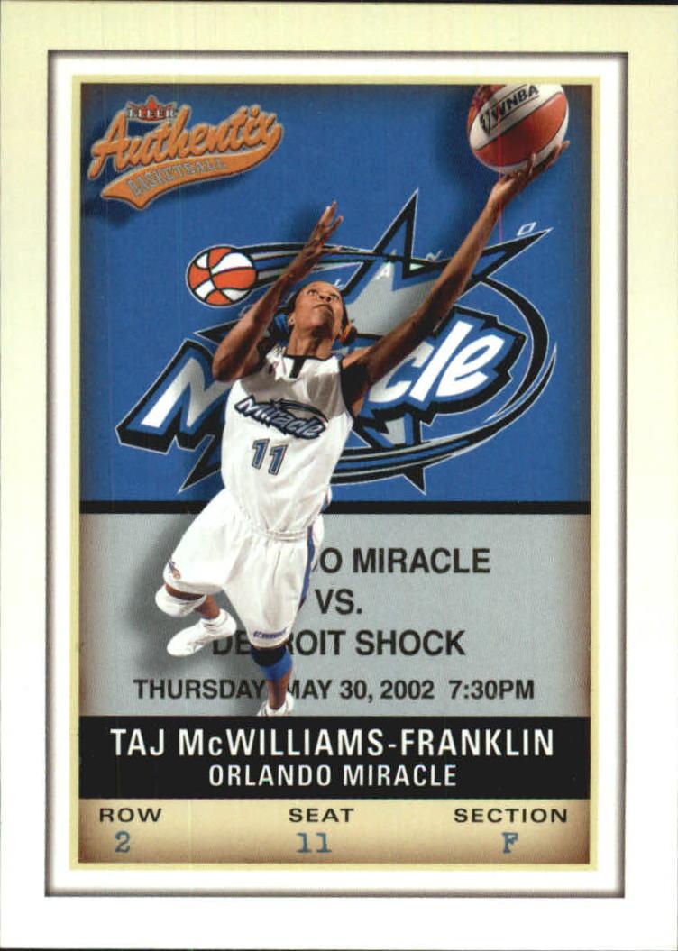 2002 Fleer Authentix WNBA #2 Taj McWilliams-Franklin