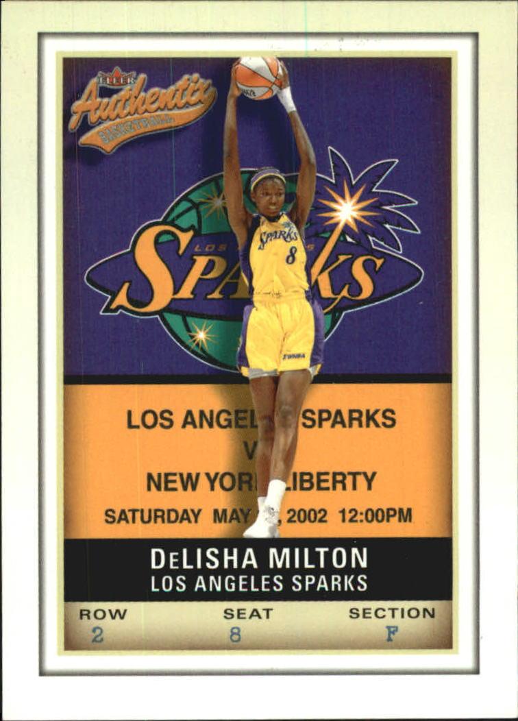 2002 Fleer Authentix WNBA #6 DeLisha Milton