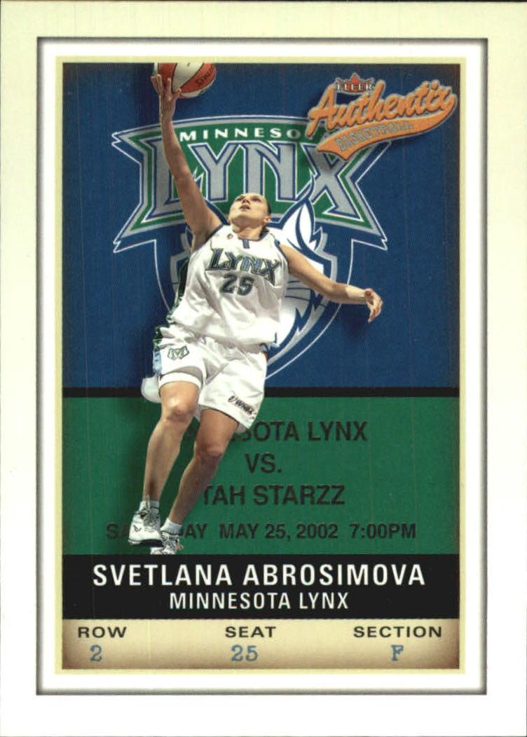 2002 Fleer Authentix WNBA #8 Svetlana Abrosimova