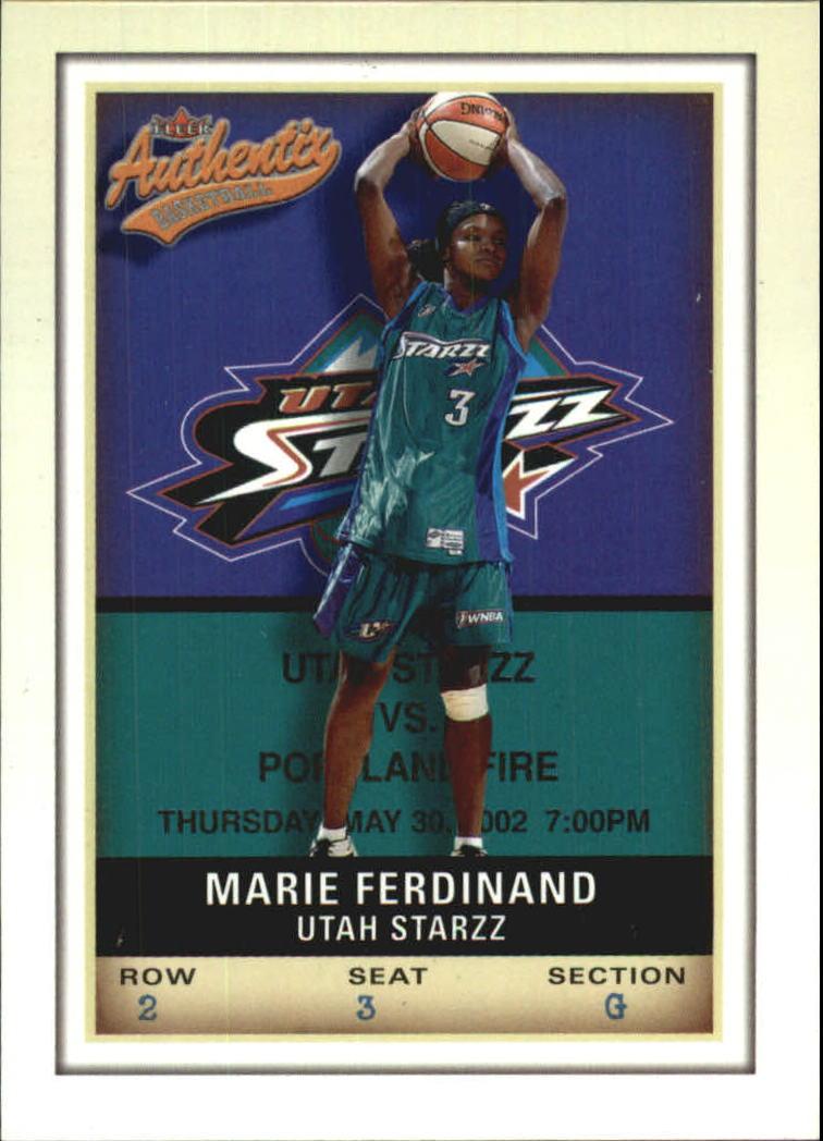 2002 Fleer Authentix WNBA #11 Marie Ferdinand
