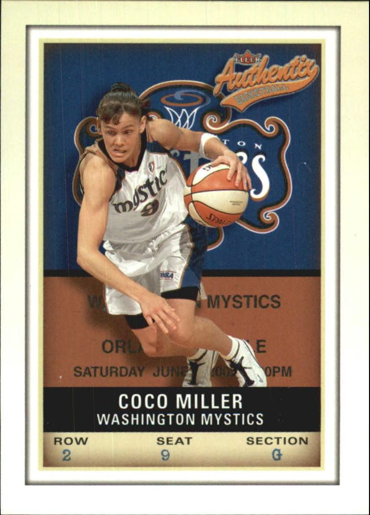 2002 Fleer Authentix WNBA #12 Coco Miller