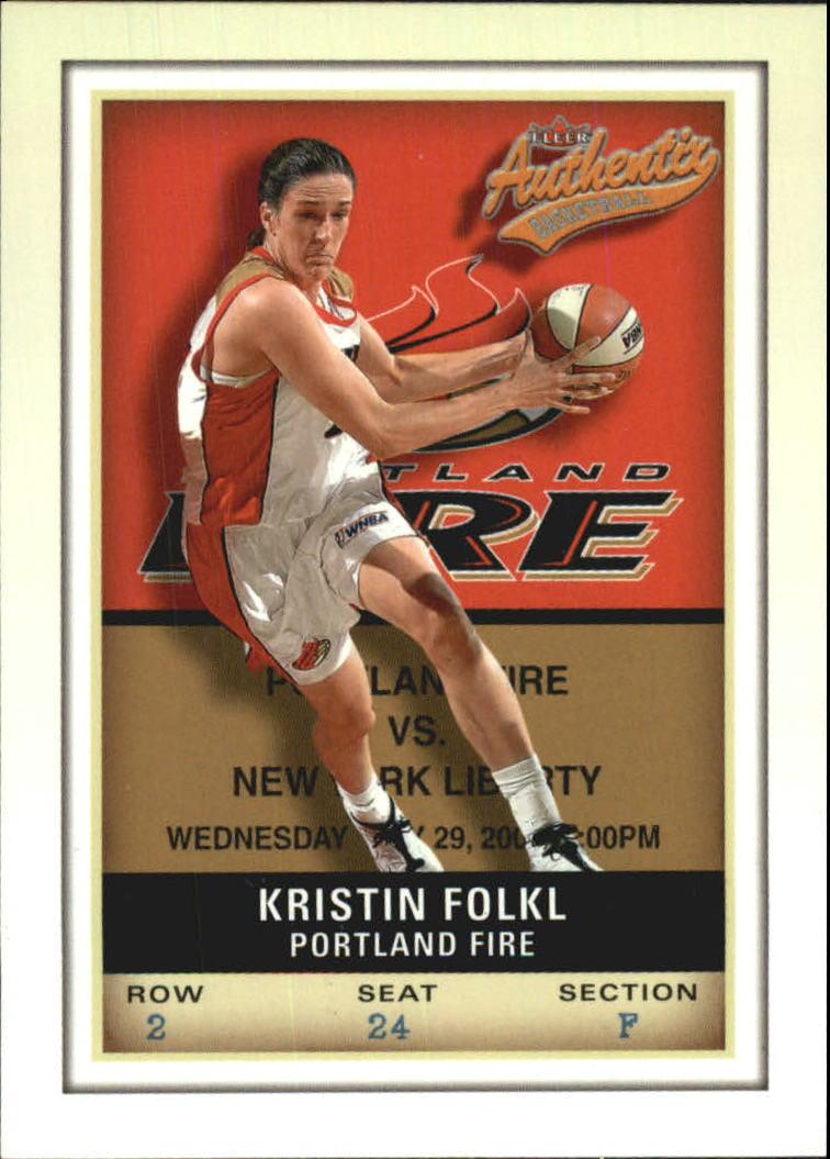 2002 Fleer Authentix WNBA #14 Kristin Folkl