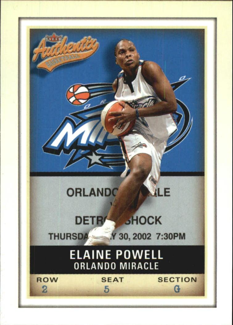 2002 Fleer Authentix WNBA #16 Elaine Powell
