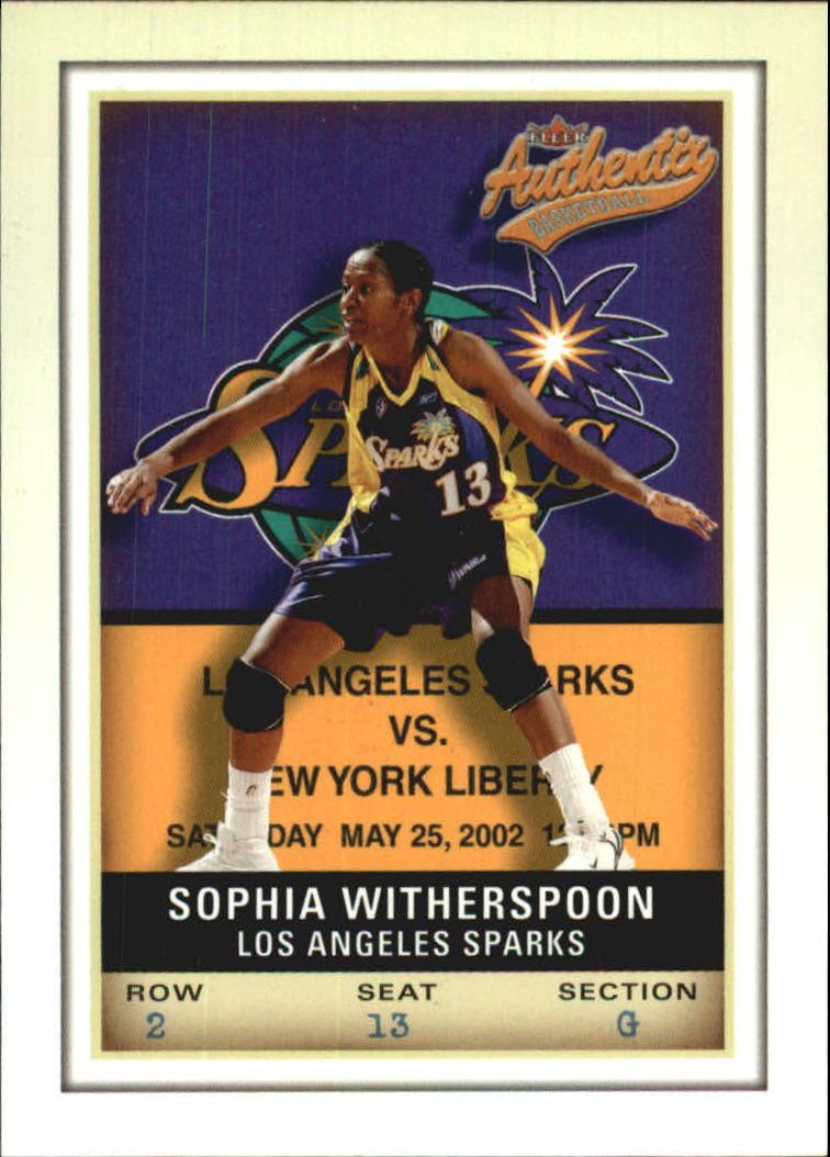 2002 Fleer Authentix WNBA #18 Sophia Witherspoon
