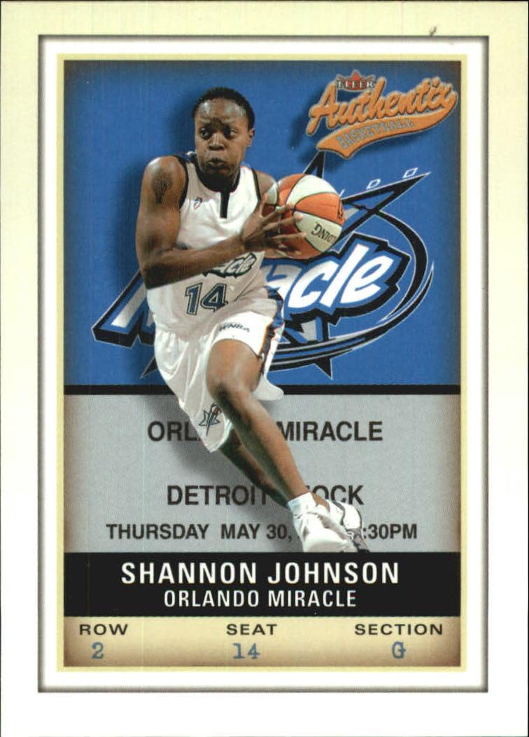 2002 Fleer Authentix WNBA #19 Shannon Johnson