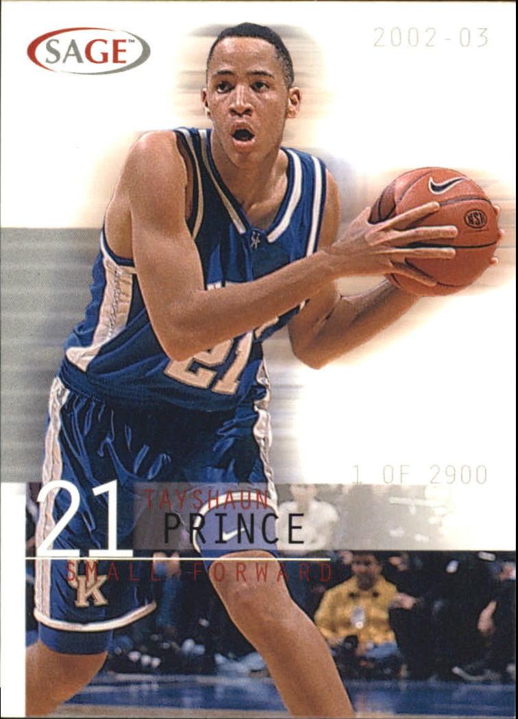 2002 SAGE #24 Tayshaun Prince