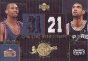 2002-03 Upper Deck Inspirations #108 Nene Hilario JSY RC/Tim Duncan JSY
