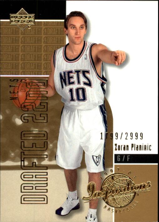 2002-03 Upper Deck Inspirations #177 Zoran Planinic XRC